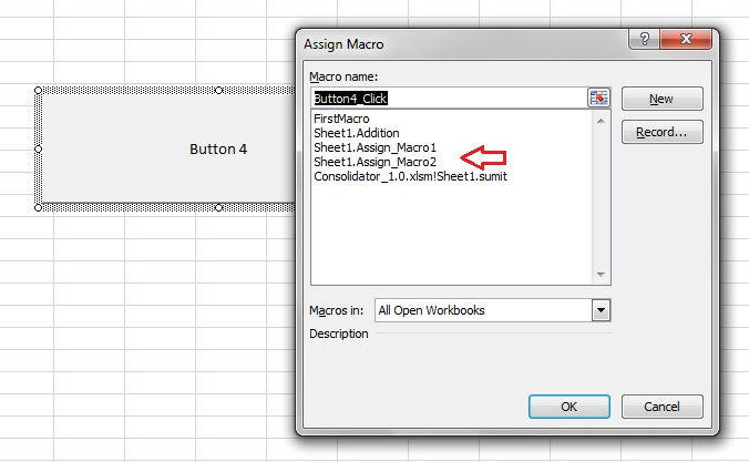 Excel-VBA-MACRO-Assign a Macro to a button— 3