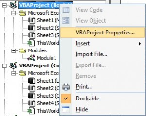 Excel-VBA-MACRO - Password Protection To Macro - 1