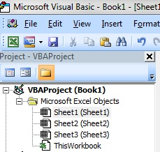 Excel-VBA - Project Window -2