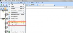 Excel-VBA -Project and Property Window - 1