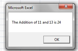 Msgbox in Excel-2