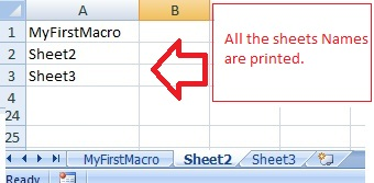 VBA-Excel: Get the names of all WorkSheets in a Excel ...