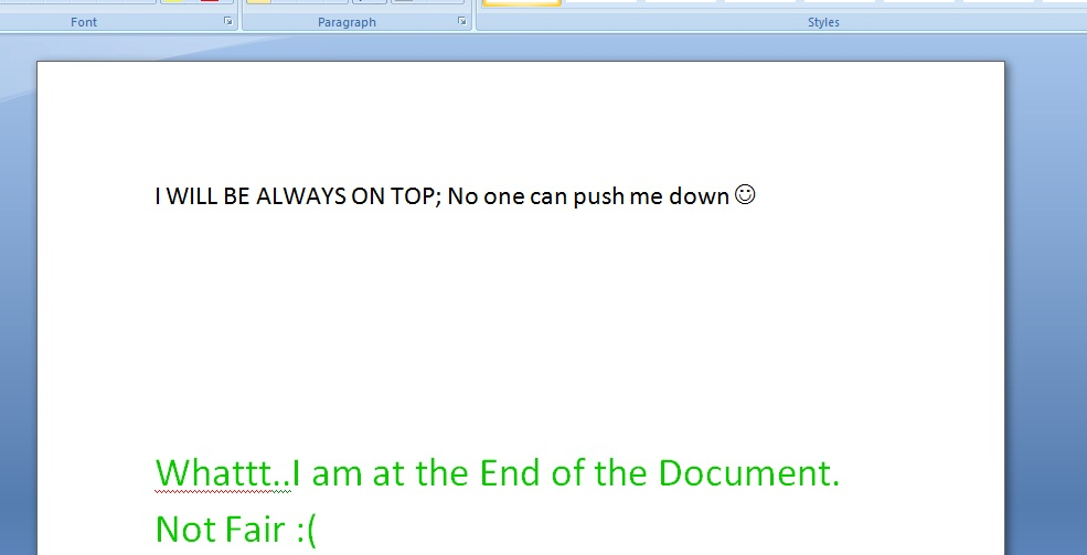 MS Word -Append Text at the End