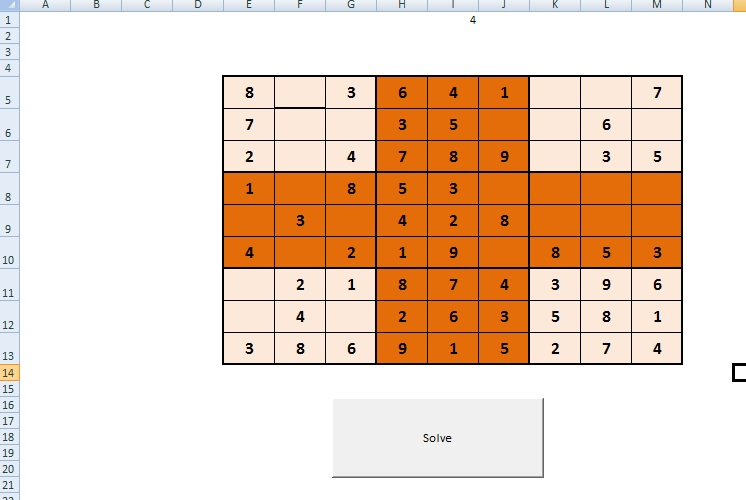 Multi Dimensional Array - SUDOKU SOLVER