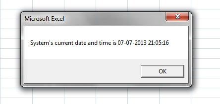 VBA-Excel: Date-Time Functions – Date(), Now() and Time() – Excel-Macro