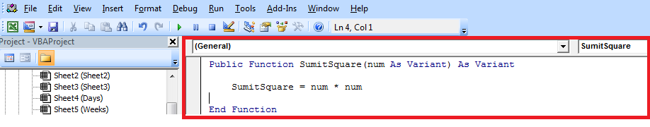 User Defined Functions-Function