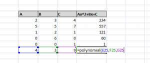User Defined Functions-Polynomial