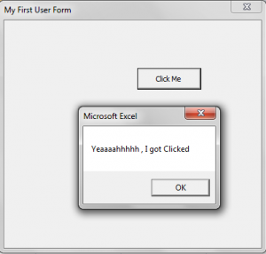 User Form - Display - Clicked