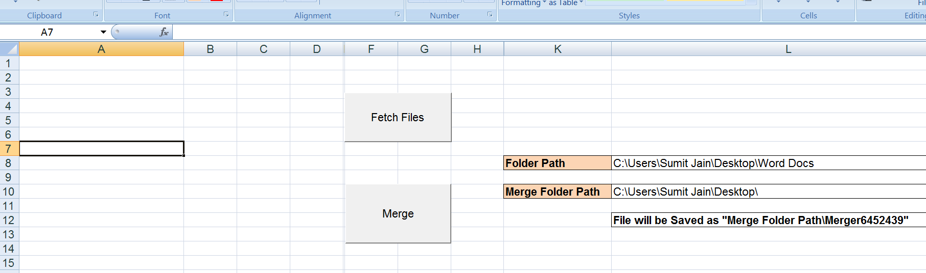 Workbooks macro to combine worksheets : VBA-Excel - Merger - Merge or Combine Many Word Documents Into One