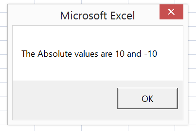 how to return a value in excel macro