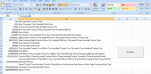 Convert Numbers (Dollars, Euros) into Words or Text