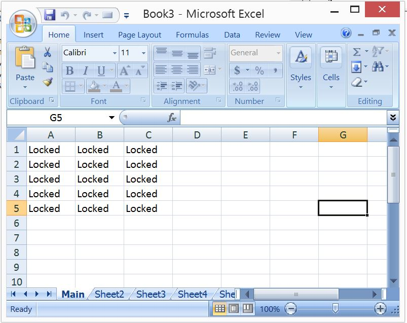 excel 2010 how to lock cells