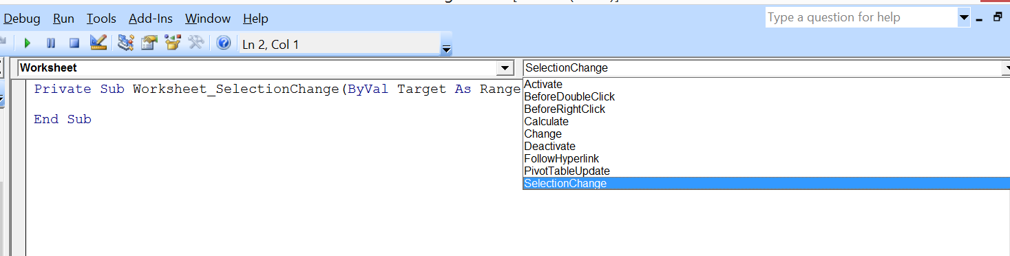 Excelvba Prevent Changing The Worksheet Name. Select Selectionchange. Worksheet. Worksheet Before Selection Change At Mspartners.co