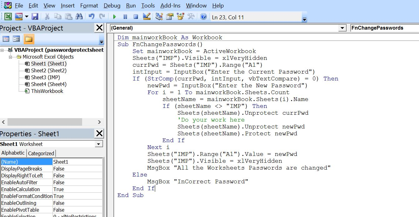 Workbooks macro to combine worksheets : Excel-VBA : Change Passwords for all the WorkSheets in one shot