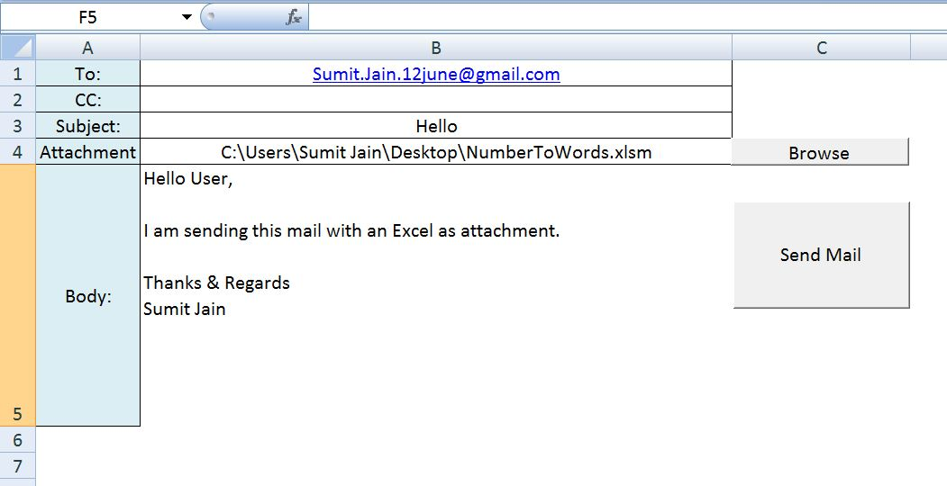 Excel Vba Send A Excel Workbook As Attachment In Mail