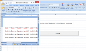 Open Word Document using Explorer Window 2
