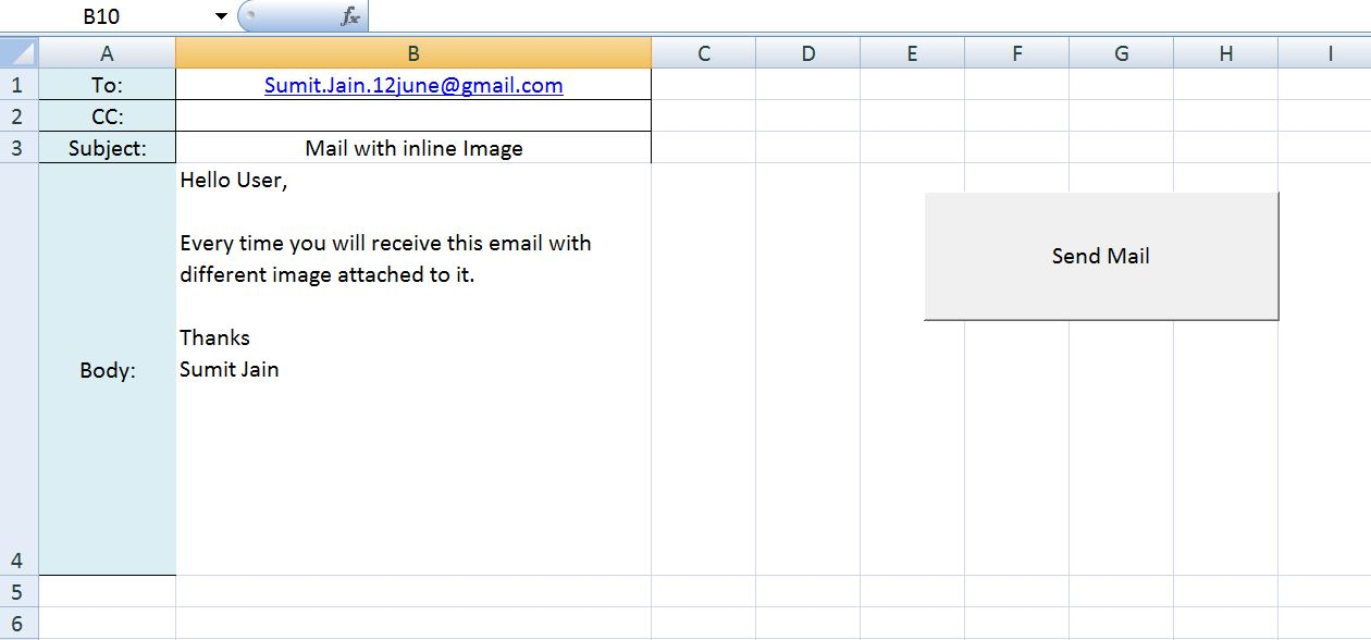using excel macro to send email