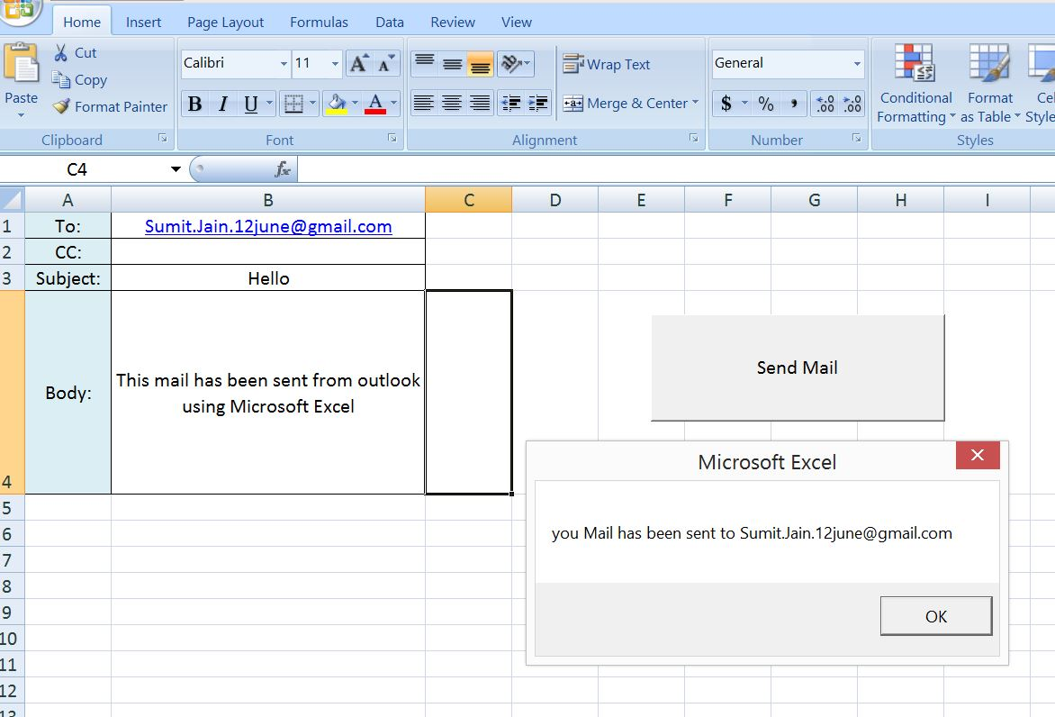 Workbooks macro to combine worksheets : Excel-VBA : Send a Simple Mail From MS Outlook Using Excel