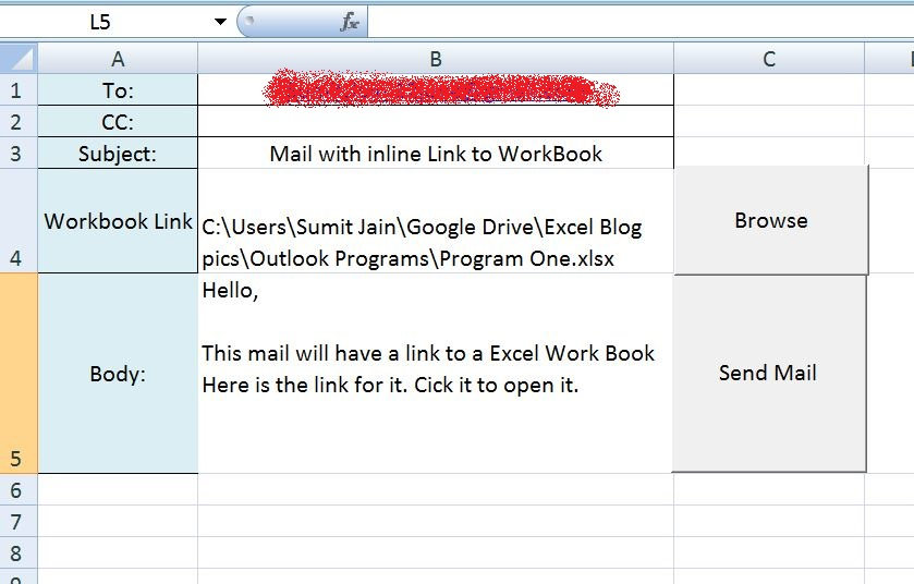 Send Mail With Link To A Workbook From Ms Outlook Using Excel. Send Mail With Link To A Workbook From Ms Outlook. Worksheet. Excel Worksheet Email At Clickcart.co